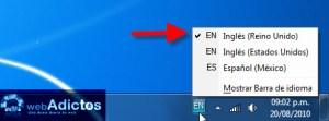 Cambiar el idioma del teclado en Windows