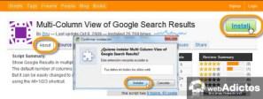 Permitir la búsqueda en multicolumas en Chrome