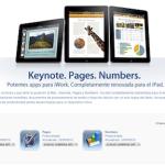 iWork para iPad se actualiza en grande