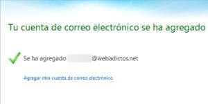Agregar correo webadictos a Windows Live Mail
