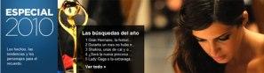 Lo más buscado en Yahoo! España en 2010