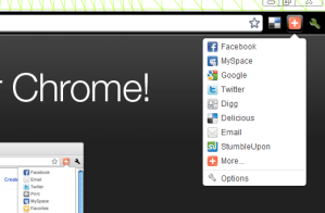 Compartir o guardar bookmarks desde Chrome