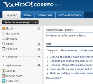 Yahoo Correo Beta lanza el calendario y más funcionalidades
