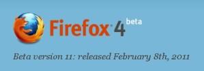 Firefox 4 Beta 11 disponible