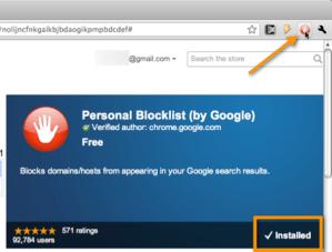 Como bloquear algunos resultados de búsqueda en Chrome