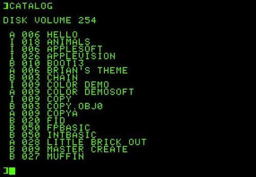 La historia de Mac OS X en imágenes - 1978_Apple_II_DOS_3_0