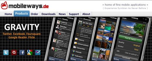 Gravity de las mejores aplicaciones para Nokia con Symbian OS - gravity-twitter-symbian-nokia