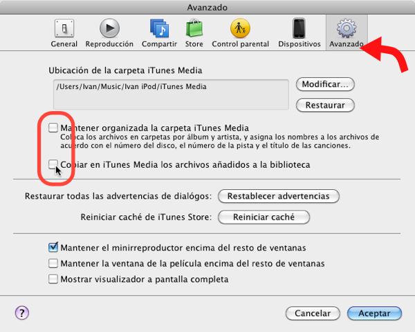 Cómo usar varias bibliotecas de iTunes en una sola computadora - itunes-multiples-bibliotecas-6
