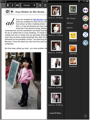 Blogsy, un buen editor de blogs para el iPad - Blogsy