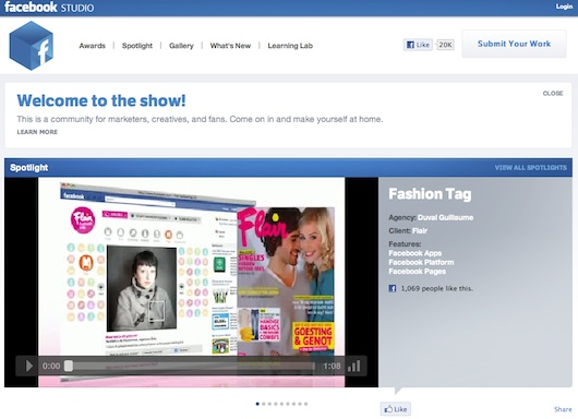 Facebook Studio Facebook Studio, la red social para los anunciantes de Facebook