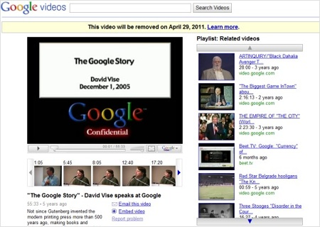 Google decide ponerle fin a Google video - Google-Video
