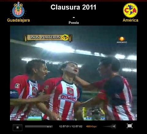 chivas america en vivo clausura 2011 Chivas vs América en vivo, Clausura 2011