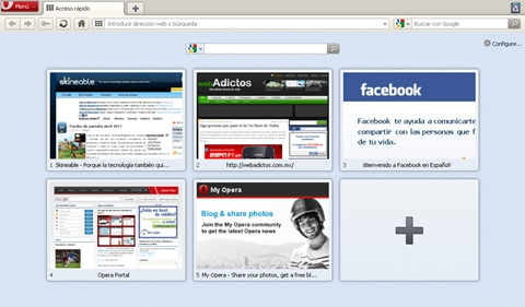 opera speed dial Personaliza tu sitio web en el Acceso Rápido de Opera