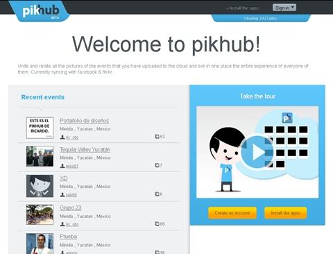 Pikhub, comparte tus fotos - pikhub-eventos