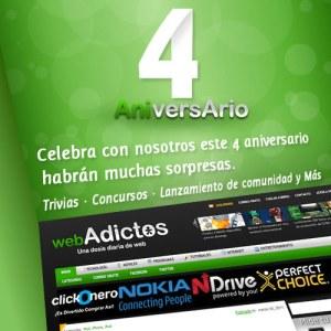 Ganadores 4to Aniversario WebAdictos