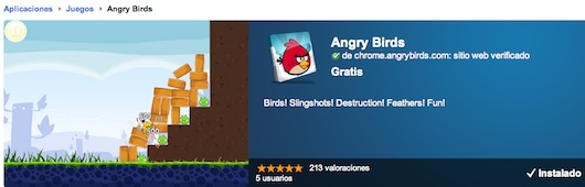 Angry Birds versión HTML5 disponible en la Chrome Web Store - Angry-Birds-html5
