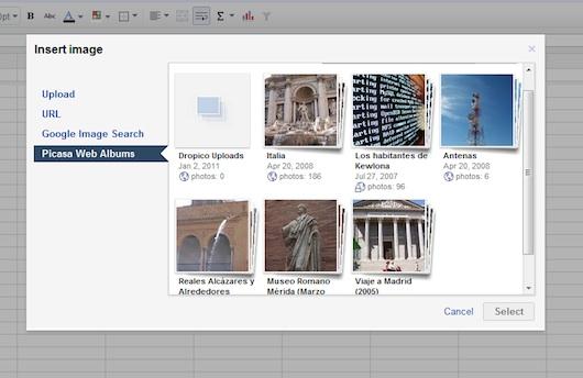 Google integra imágenes a sus hojas de cálculo - Google-Docs-Spreadsheet