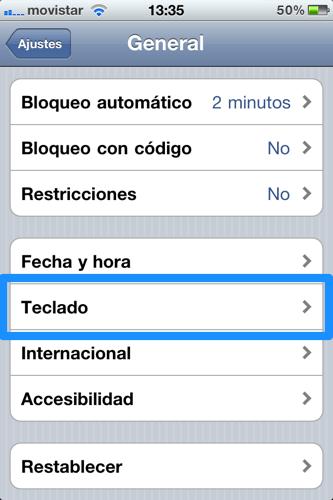 Desactiva la corrección automática del teclado en iOS - iphone-ajustes-teclado