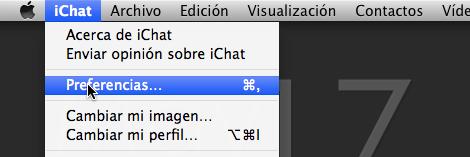 preferencias ichat Como agregar tu cuenta de MSN (Hotmail) a iChat