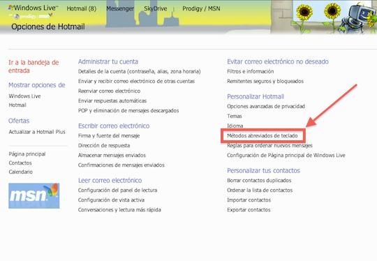 Activar atajos de teclado en Hotmail 2 Hotmail se actualiza y ahora incluye atajos de teclado. Te decimos como activarlos