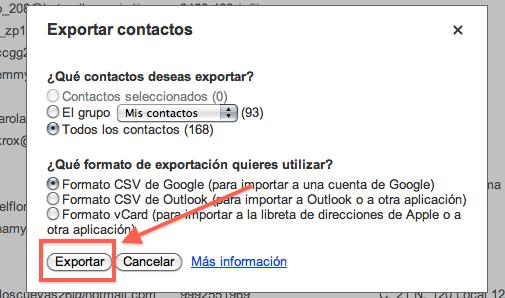 Como exportar los contactos de Gmail a otros formatos para su respaldo - Exportar-contactos-de-gmail-3