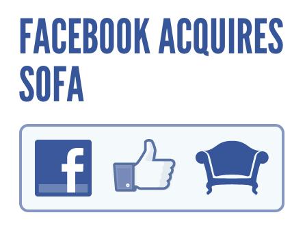 Facebook compra sofa Facebook adquiere a la empresa de diseño Sofa