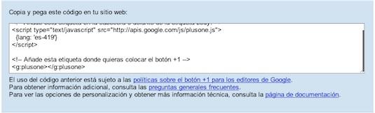 Google lanza el botón +1 para distintos websites. ¿Cómo agregarlo en mi sitio web? - agregar-boton-+1-2