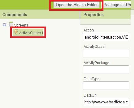 Como crear una aplicación para Android con App Inventor - app-inventor-shortcut