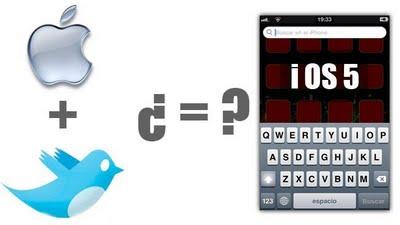 iOS 5 tendrá actualizaciones automáticas y posible integración con Twitter [Rumor] - apple-incorpora-twitter-ios5