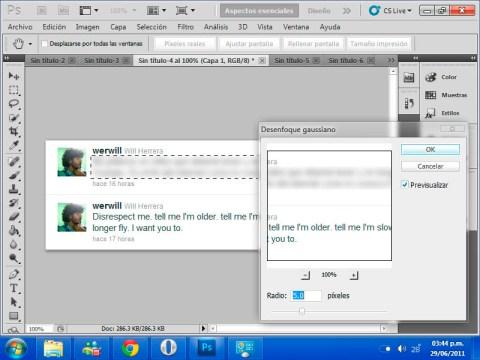 gaussian aplicar Ocultar algunos elementos en tus imágenes con blur en Photoshop