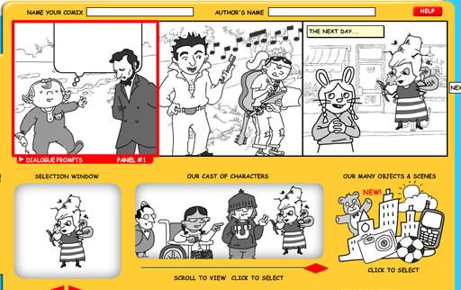 Crear comics en Makebeliefscomix - his