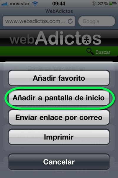 la foto 2 Como agregar un sitio web a tu página de inicio de tu iPhone, iPod o iPad