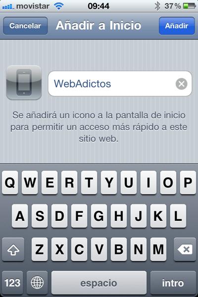 la foto 3 Como agregar un sitio web a tu página de inicio de tu iPhone, iPod o iPad