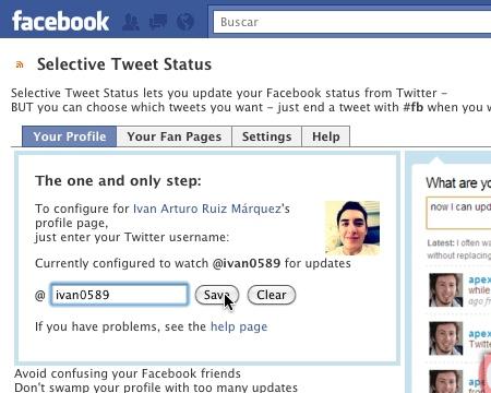 mandar tweets a facebook 2 Cómo mandar los tweets que tu elijas a Facebook