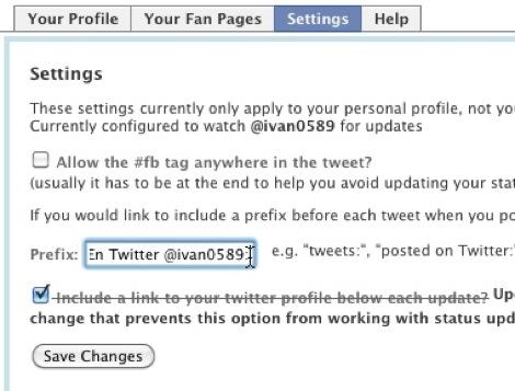 mandar tweets a facebook 5 Cómo mandar los tweets que tu elijas a Facebook