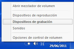 volumen Activar la mezcla estéreo en Windows