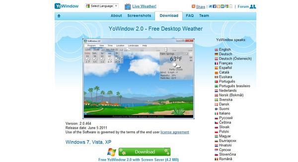 Mostrar la información del clima en la barra de tareas de Windows - yowindow1