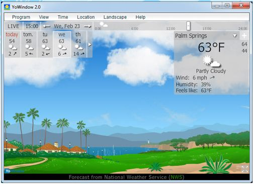 Mostrar la información del clima en la barra de tareas de Windows - yowindowA