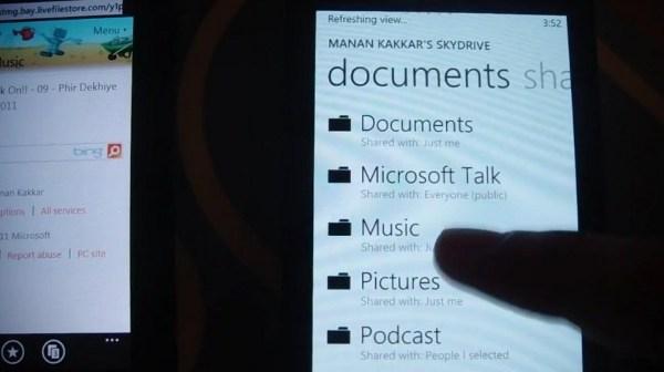 Habrá Streaming de Música en Windows Phone 7 Mango? - 2011-07-28skydrivemusicstream