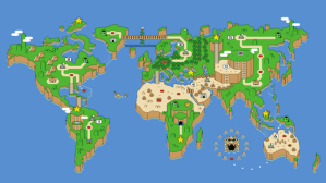 Wallpaper Super Mario Earth