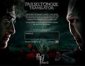 Traductor de Parsel para todos fanáticos de Harry Potter