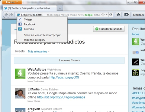 Como realizar búsquedas rápidas en Firefox, Add-on AwesomeBar HD - firefox-awesomebar-hd