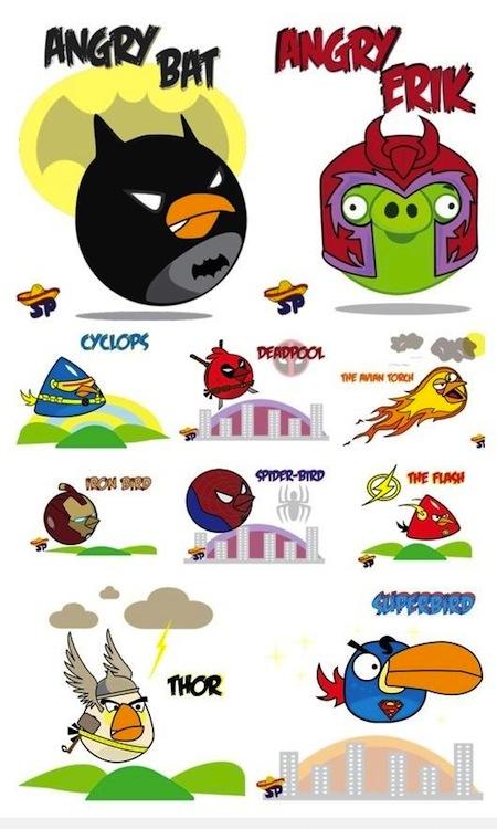 Angry Birds HEroes Angry Birds como Super Héroes y villanos [Imagen]