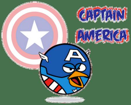 Angry Birds como Super Héroes y villanos [Imagen] - Captain-America_1
