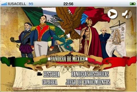 bandera de mexico app La Historia de México en apps para iPhone y iPad