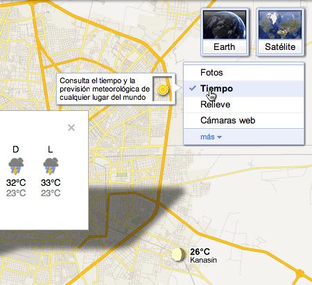 clima google maps Google Maps se actualiza y ahora te muestran el clima