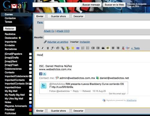 Personalizar la firma de tus correos con WiseStamp - firma-correo-gmail