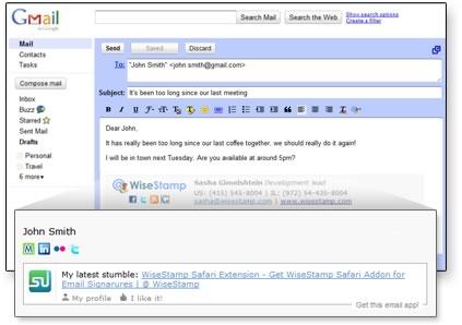 Personalizar la firma de tus correos con WiseStamp - firma-correo