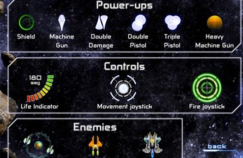 Juego de naves para iPad, Galaxy Survivor - galaxy-survivor-stats