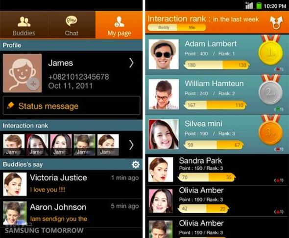 Samsung presenta ChatOn, su nuevo servicio de mensajería instantánea